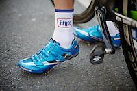 blue 'suede' shoes<br /> <br /> Tour de France 2013<br /> stage 13: Tours to Saint-Amand-Montrond, 173km
