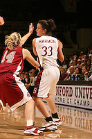 25 February 2006: Jillian Harmon during Stanford's 78-47 win over the Washington State Cougars at Maples Pavilion in Stanford, CA.
