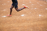 Athletes train on a dirt track  in Iten, Kenya The track is far from the standards of high tech training grounds and all weather tracks of Europe and America. Yet increasingly speed work is part of  the training for long distance races that has seen a revolution in marathon times since 2009. Young Kenyan runners  shifting from track to distance running are leading the revolution.