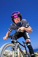 Rob Warner riding Giant bike <br /> Cyprus 1994 team mbuk<br /> pic copyright Steve Behr / Stockfile
