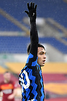 Lautaro Martinez of FC Internazionale reacts during the Serie A football match between AS Roma and FC Internazionale at Olimpico stadium in Roma (Italy), January 10th, 2021. Photo Andrea Staccioli / Insidefoto