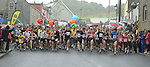 The Integral Clogherhead 10K started in a downpour. Photo:Colin Bell/pressphotos.ie