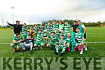 Killarney Celtic celebrate with the Greyhound Bar Cup having beaten Killarney Athletic in the final.