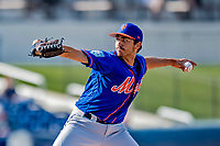 7 March 2019: New York Mets pitcher Daniel Zamora on the mound during a Spring Training Game against the Washington Nationals at the Ballpark of the Palm Beaches in West Palm Beach, Florida. The Nationals defeated the visiting Mets 6-4 in Grapefruit League, pre-season play. Mandatory Credit: Ed Wolfstein Photo *** RAW (NEF) Image File Available ***