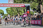 Maglia Ciclamino French Champion Arnaud Demare (FRA) Groupama-FDJ wins Stage 7 of the 103rd edition of the Giro d'Italia 2020 running 143km from Matera to Brindisi, Sicily, Italy. 9th October 2020.  <br /> Picture: LaPresse/Massimo Paolone | Cyclefile<br /> <br /> All photos usage must carry mandatory copyright credit (© Cyclefile | LaPresse/Massimo Paolone)