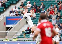 10th July 2021; Twickenham, London, England; International Rugby Union England versus Canada; Freddie Steward of England taking the high ball from a box kick