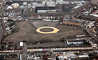 Pictured: The area where the Vetch Field, former home ground of Swansea City Football Club ground was. 16 September 2011<br />