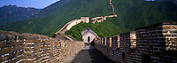 Panoramic of the Great Wall of China Mutianyu without any Peopl