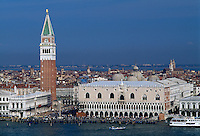Dogenpalast, Campanile, , Venedig,  Venetien, Italien, Unesco-Weltkulturerbe
