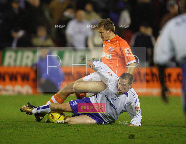 4038 Clare tackle.Blackpool v Tranmere
