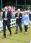 CEO Todd Martin  leads dignitaries into  the 2015 Induction Ceremony at the International Tennis Hall of Fame, Newport, RI USA.  The ceremony took place on July 18, 2015
