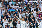 Cristiano Ronaldo of Real Madrid celebrates scoring during their 2016-17 UEFA Champions League Semifinals 1st leg match between Real Madrid and Atletico de Madrid at the Estadio Santiago Bernabeu on 02 May 2017 in Madrid, Spain. Photo by Diego Gonzalez Souto / Power Sport Images