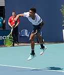 March 26, 2019: Felix Auger-Aliassime (CAN) defeated Nikoloz Basilashvili (GEO) 7-6(4), 6-4, at the Miami Open being played at Hard Rock Stadium in Miami, Florida. ©Karla Kinne/Tennisclix 2010/CSM