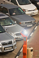 Solar power parking ticket distributor. Dubai. United Arab Emirates..