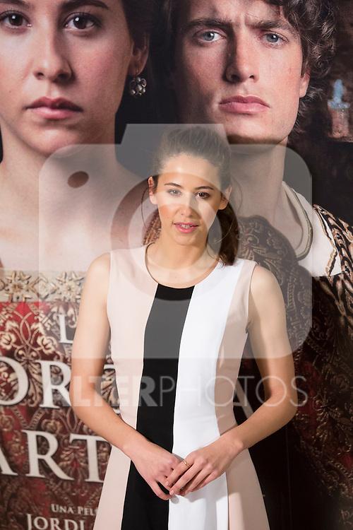 Spanish actress Irene Escolar poses during `La corona partida´ film presentation in Madrid, Spain. February 16, 2016. (ALTERPHOTOS/Victor Blanco)