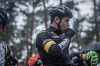 Tom meeusen (BEL/Telenet-Fidea) taking a quick gel before the start<br /> <br /> Krawatencross Lille 2017