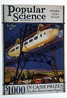 """Utopia:  Transport of the Future--monorail.  Corn & Horrigan, YESTERDAY'S TOMORROS.  Monorails """" an indispensable part of the popular vision of the future.""""  POPULAR SCIENCE, Oct. 1930."""