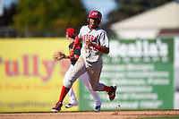 Auburn Doubledays right fielder Juan Soto (26) running the bases during the second game of a doubleheader against the Batavia Muckdogs on September 4, 2016 at Dwyer Stadium in Batavia, New York.  Batavia defeated Auburn 6-5. (Mike Janes/Four Seam Images)
