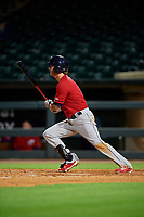 Columbus Clippers center fielder Tyler Naquin (6) bats during a game against the Louisville Bats on May 1, 2017 at Louisville Slugger Field in Louisville, Kentucky.  Columbus defeated Louisville 6-1  (Mike Janes/Four Seam Images)