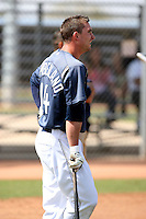 Drew Cumberland #14 of the San Diego Padres participates in spring training workouts at the Padres minor league complex on March 19, 2011  in Peoria, Arizona. .Photo by:  Bill Mitchell/Four Seam Images.