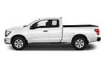 Car Driver side profile view of a 2021 Nissan Titan S 4 Door Pick-up Side View