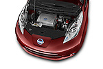 Car Stock 2017 Nissan LEAF S 5 Door Hatchback Engine  high angle detail view