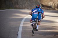 Tom Devriendt (BEL/Wanty-Groupe Gobert) speeding downhill<br /> <br /> Team Wanty - Groupe Gobert 2015 training camp