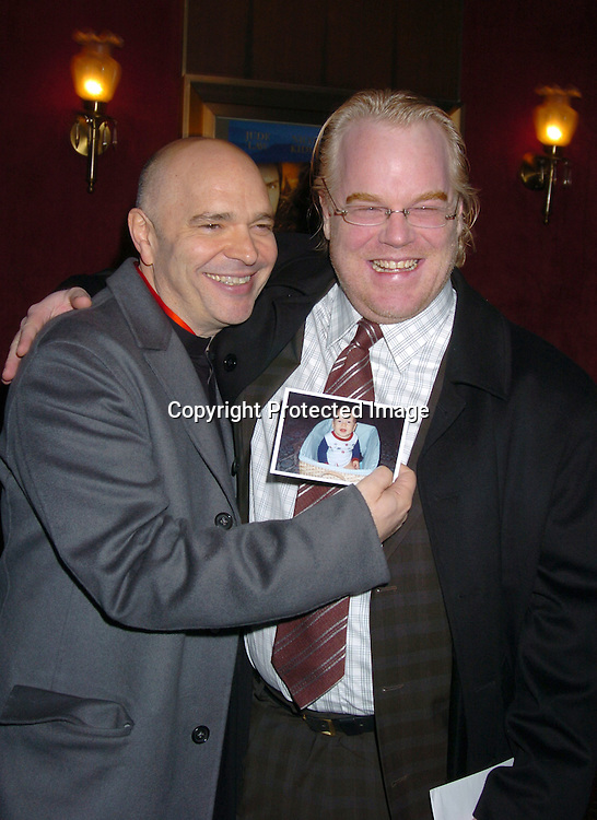 """Anthony Minghella and Philip Seymour Hoffman..at the New York premiere of """" Cold Mountain"""" at the ..Ziefeld theatre on December 9, 2003.  Photo by Robin Platzer, Twin Images"""