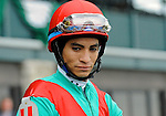 Jockey Alan Garcia during Blue Grass Stakes Day on April 16, 2011 at Keeneland in Lexington, Kentucky.  (Bob Mayberger/Eclipse Sportswire)