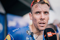Philippe Gilbert (BEL/Quick Step floors) interviewed post-race<br /> <br /> Stage 1: Noirmoutier-en-l'Île > Fontenay-le-Comte (189km)<br /> <br /> Le Grand Départ 2018<br /> 105th Tour de France 2018<br /> ©kramon