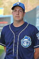 Brad McAtee #22 of the Asheville Tourists poses during media day at McCormick Field on April 4, 2011 in Asheville, North Carolina.  Photo by Tony Farlow / Four Seam Images..