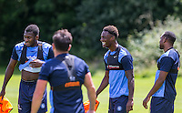 Anthony Stewart (2nd right) during the Wycombe Wanderers 2016/17 Pre Season Training Session at Wycombe Training Ground, High Wycombe, England on 1 July 2016. Photo by Andy Rowland / PRiME Media Images.