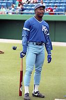Kansas City Royals Bo Jackson during spring training circa 1989.  (MJA/Four Seam Images)