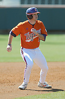 Infielder Mike Freeman (5) of the Clemson Tigers prior to a game against the Wright State Raiders Saturday, Feb. 27, 2011, at Doug Kingsmore Stadium in Clemson, S.C. Photo by: Tom Priddy/Four Seam Images