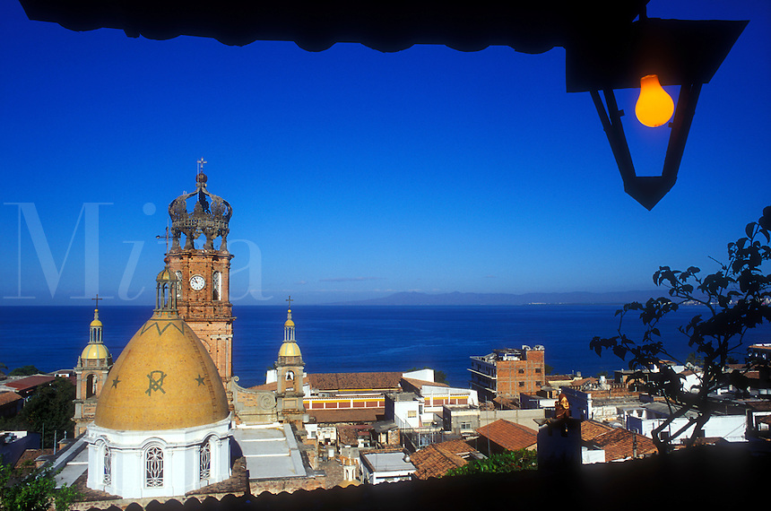 Mexico, Puerto Vallarta, view of Church of Guadalupe