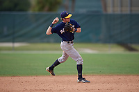 Jake Berger (25) during the WWBA World Championship at the Roger Dean Complex on October 12, 2019 in Jupiter, Florida.  Jake Berger attends Buckingham Browne Nichols High School in Boston, MA and is committed to Harvard.  (Mike Janes/Four Seam Images)