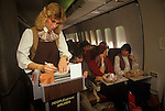 People Express PeopleExpress Airline, May 26th 1983 first flight Gatwick airport London to Newark New Jersey USA. Payment of $149 one way ticket bought inflight.
