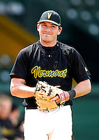 21 April 2007:University of Vermont Catamounts' Kyle Henry, a Junior from Brattleboro, VT, warms up prior to facing the University of Hartford Hawks at Historic Centennial Field, in Burlington, Vermont. Henry went on to pitch a complete 7-inning game and record his third win of the season as the Catamounts defeated the Hawks 3-2 to sweep the afternoon double-header...Mandatory Photo Credit: Ed Wolfstein Photo