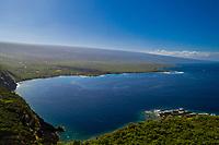 An aerial view of Kealakekua Bay, Big Island of Hawai'i.