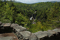 The Linville Falls are located at Mile Post 316.3 on the Blue Ridge Parkway in the North Carolina mountains.