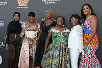 LOS ANGELES - AUG 8:  Halima Aden, Ivy McGregor, Opal Tometi, Monique Coleman, Koshie Mills, Maxine Waters and Alexis Kerr at the Heirs Of Afrika 4th Annual International Women of Power Awards at the Marriott Marina Del Rey on August 8, 2021 in Marina Del Rey, CA