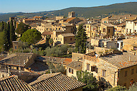 Medieval houses around Plazza Cisterna - San Gimignano - Italy