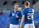 St Johnstone v Rangers…21.04.21   McDiarmid Park   SPFL<br />David Wotherspoon and Liam Craig confer<br />Picture by Graeme Hart.<br />Copyright Perthshire Picture Agency<br />Tel: 01738 623350  Mobile: 07990 594431