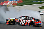 NASCAR XFINITY Series<br /> Alsco 300<br /> Kentucky Speedway, Sparta, KY USA<br /> Saturday 8 July 2017<br /> Kyle Busch, NOS Energy Drink Rowdy Toyota Camry celebrates with a burnout <br /> World Copyright: Logan Whitton<br /> LAT Images