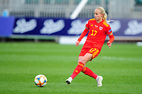 Nadia Lawrence of Wales Women's in action during the UEFA Women's EURO 2022 Qualifier match between Wales Women and Faroe Islands Women at Rodney Parade in Newport, Wales, UK. Thursday 22 October 2020