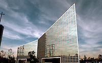 Philip Johnson: Crystal Cathedral,  Garden Grove, 1980. 3/4 view from southeast.  Photo '80.