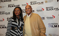 September 19, 2012 - Montreal (Qc) CANADA - Fabienne Colas, actress and President, Fondation Fabienne Colas (L)Harry Belafonte, recipient of the 2012 Humanitarian Prize,<br />  press conference for the legendary at the Montreal International Black Film Festival (MIBFF)