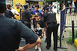 Young football Diego Maradona fan arrives at Boca Junior team stadium Buenos Aires Argentina South America 2000s 2002