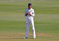 Tawanda Muyeye of Kent looks on during Kent CCC vs Northamptonshire CCC, LV Insurance County Championship Group 3 Cricket at The Spitfire Ground on 3rd June 2021