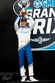 #10: Alex Palou, Chip Ganassi Racing Honda<br /> Victory Lane